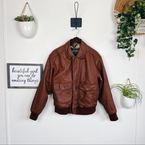 Vintage 1990s Type A-2 Leather Flight Jacket